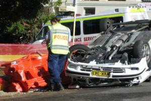 roadwork car crash