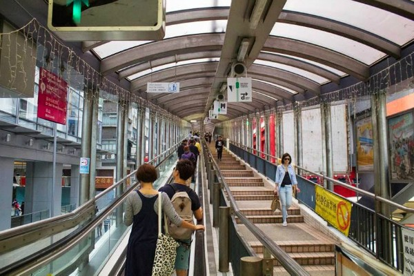 World's Longest Outdoor Covered Escalator, Hong Kong