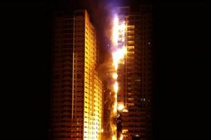 United Arab Emirates skyscrape fire