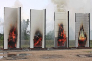 cladding fire testing