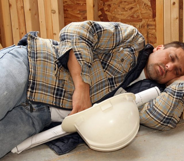 Construction Workers Sleep More